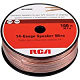 RCA CAH14100SR 14-Gauge Speaker Wire (100-Feet)(Packaging may vary)