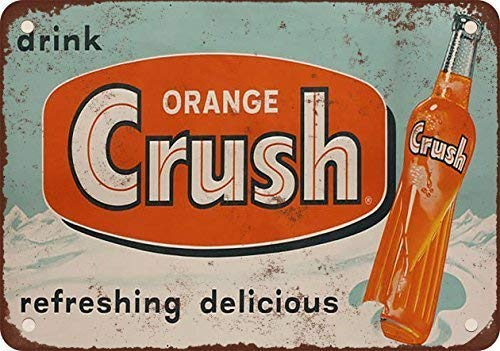 Spsoic 1953 Orange Crush Tin Sign 128 Advertising Striking Wall Decoration Gift