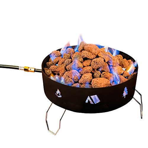 Stansport Propane Fire Pit with Lava Rocks