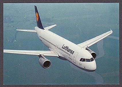 Lufthansa Airbus A320-200 postcard 1980s at Amazon's