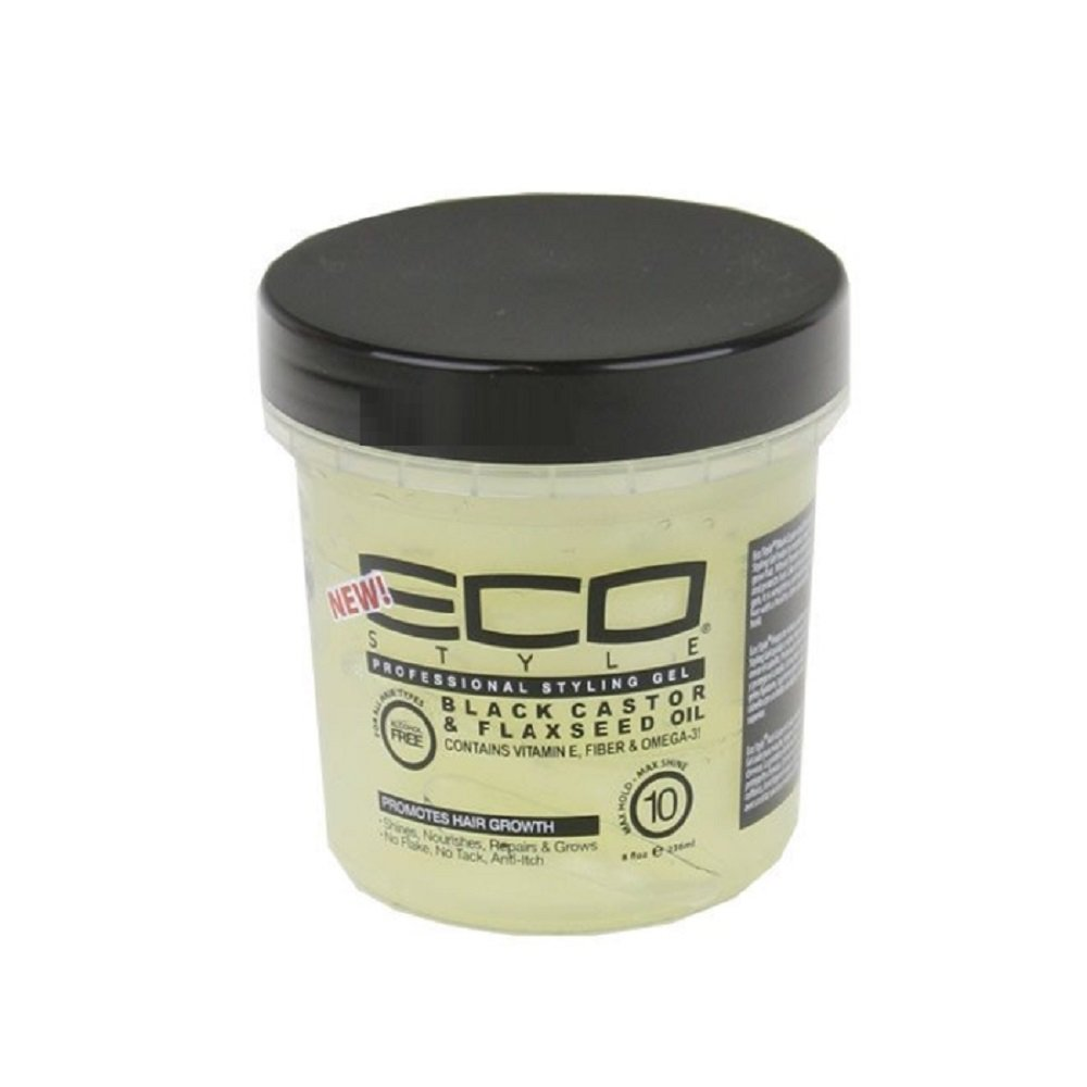 Eco Style Gel Black Castor and Flaxseed Oil, 8 Ounce I117C