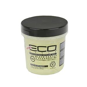 Beauty Logica Eco Style Gel Black Castor & Flaxseed Oil, 8 oz