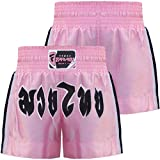 Farabi Muay Thai Kick Boxing Shorts Pink Ladies Female Training Trunks MMA