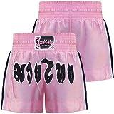 Farabi Kids Pink Muay Thai Short Kick Boxing Training, Age 4-8 years old 2X Small, Pink