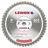LENOX Tools Circular Saw Blade, Steel-Cutting, 8-inch, 50T (21884ST800050CT)