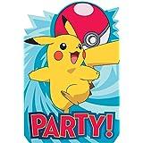 Amscan 491859 Pokemon Core Invitation Postcard