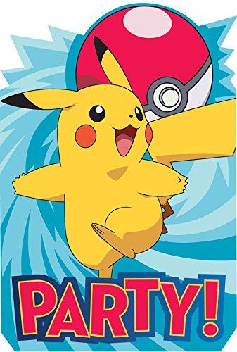 (Amscan Pokemon Postcard Invites, Party Favor)