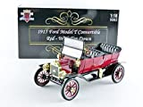 1915 Ford Model T Roadster Converible Red 1/18 by Motorcity Classics 88141