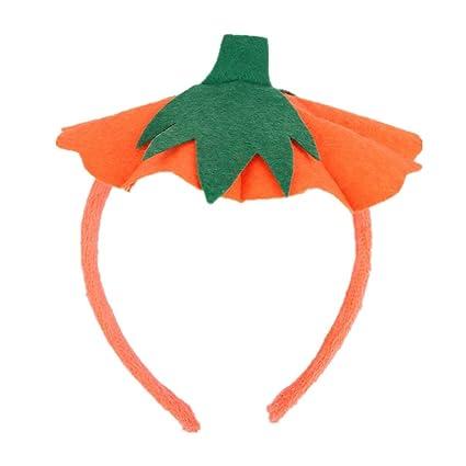 yeahibaby halloween headband pumpkin hair hoop party cosplay fancy dress headwear orange