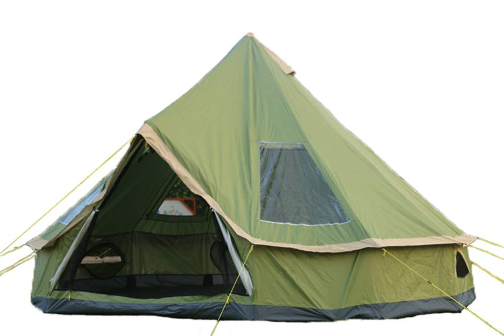 D&R ワンポールテント 5-8人用 ティーピーテント アウトドア, 直径5メートル 5メートル 緑 B07N79JDSB