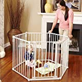 LEVE 150''x30'' Baby Pets Playpen 6-Panel Safety Play Yard Kids Activity Centre with Walk-Through Gate