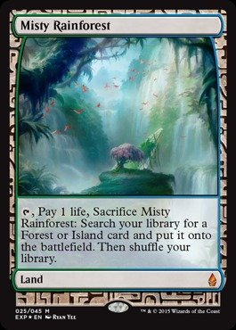 Magic: the Gathering - Misty Rainforest (220) - Expedition Lands - Foil