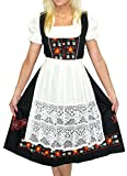 Dirndl Trachten Haus 3-Piece Long German Wear Party Oktoberfest Waitress Dress 8 38 Black