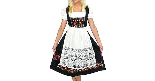 Amazon.com: Dirndl Trachten Haus - Vestido largo de fiesta ...