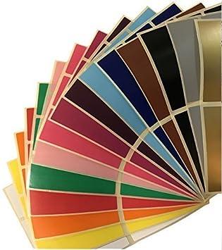 confezione grande 30 x 78mm RETTANGOLARE CODICE COLORE ADESIVI ETICHETTE ADESIVE - Scegli il tuo DIMENSIONE confezione - assortito - UGUALE quantità di tutti 15 colori, 30 x 78mm Rectangles Audioprint Ltd.