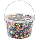The Beadery Ultra Kandi Rave Bead Neon Bucket, Multicolor