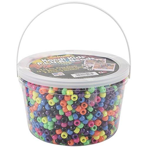 (The Beadery Ultra Kandi Rave Bead Neon Bucket, Multicolor )