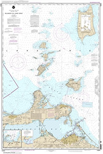 Paradise Cay Publications NOAA Chart 14844: Islands in Lake Erie; Put-In-Bay, 32.2 X 48.3, TRADITIONAL PAPER (Best Kayak For Lake Erie)
