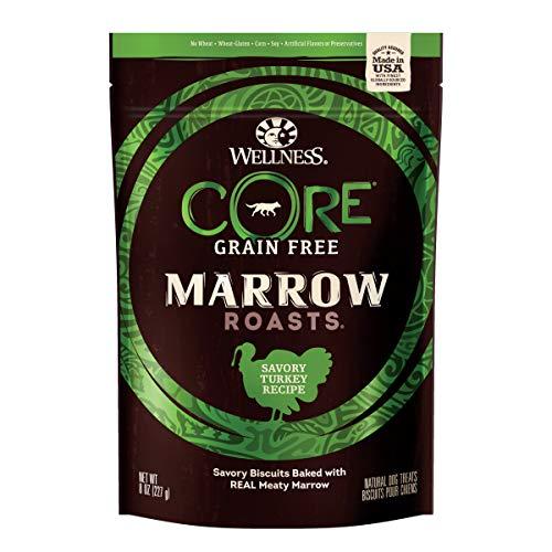 Wellness Core Marrow Roasts Natural Grain Free Dog Treats, Turkey, 8-Ounce Bag