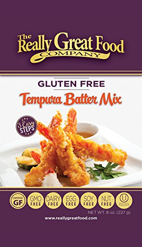 Really Great Food Company - Gluten Free Tempura Batter Mix - 8 ounces - Great for fish, chicken, and vegetables - No Soy, Nuts, Eggs, Dairy - Vegan, Kosher and Plant Based (3 Pack) (Best Fish For Tempura)