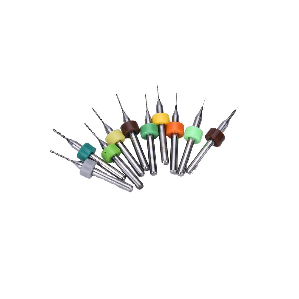 10 Pcs PCB CNC Print Circuit Board Carbide Micro Drill Bits Set Tool 0.1mm-1.0mm By Team-Management