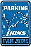 Fremont Die Sports Fan NFL Team Detroit Lions Plastic Parking Sign - Fan Zone