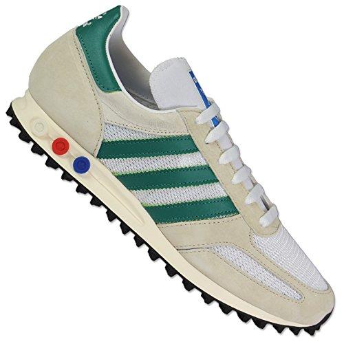 Chaussures De Sport D'entra?neur Adidas Hommes La Owhite / Subgrn Cblack