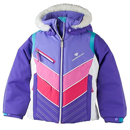Obermeyer Kids Baby Girl's Sierra Jacket with Fur (Toddler/Little Kids/Big Kids) Grapesicle 5