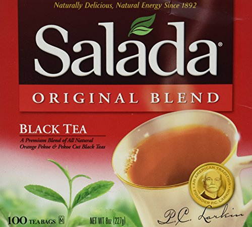 Salada Original Blend Black Tea (8 oz, 100 Count Boxes) 2 Pack