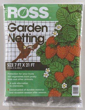 (Easy Gardener Ross 15544 21-Foot x 7-Foot Multi-Use Garden Netting, Black)