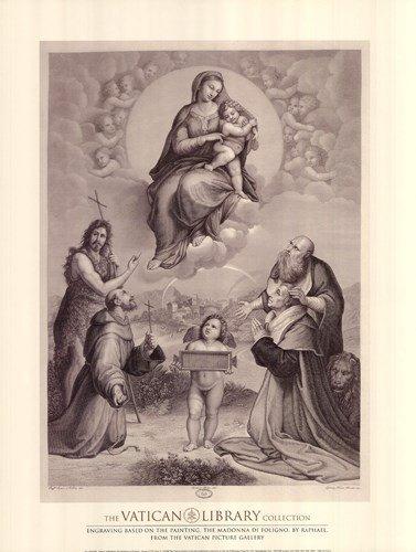 - Madonna de Foligno, c.1511, (The Vatican Collection) by Raphael - 18x24 Inches - Art Print Poster