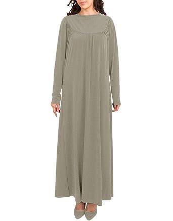 Vestido Abaya de Cuello Polo para Mujer | Vestido Maxi islámico ...
