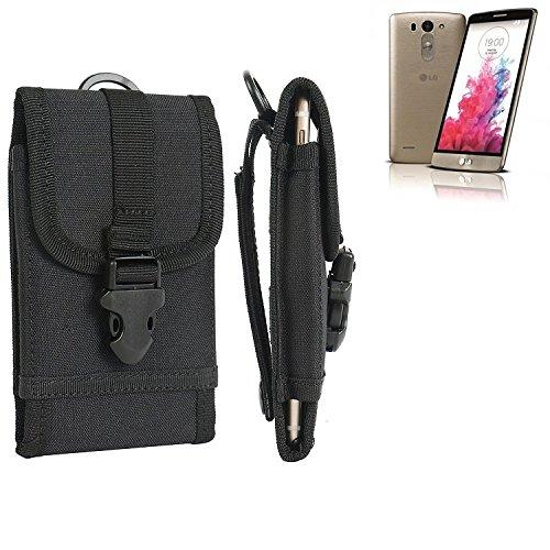 bolsa del cinturón / funda para LG Electronics G3 S, negro | caja del teléfono cubierta protectora bolso - K-S-Trade (TM)