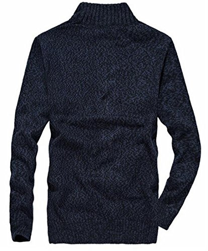 amp;W Mens Cardigan Zipper Sweater Sleeve M Blue Full Winter Dark amp;S Long wq5ZxBOCfB