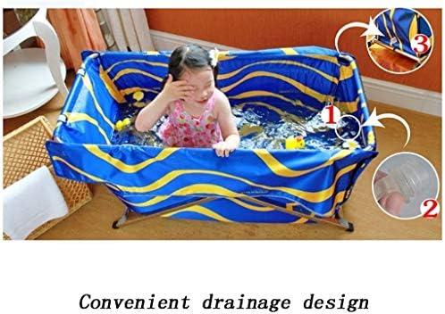Kylincde 折り畳み式のバスタブ117 * 61センチメートル大人の家庭用粘特大のポータブル折りたたみバスタブ絶縁耐久性に優れたイージークリーン (Color : 1)