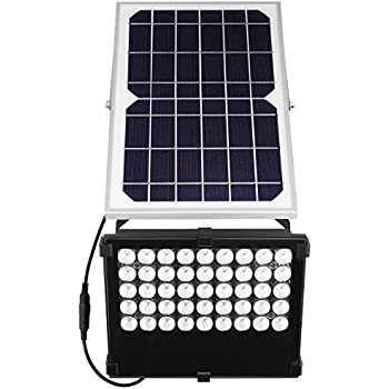 SunBonar Solar Flood Light 1000 Lumens Auto ON Off Solar Lights Outdoor for Backyard Garden Patio House Garage Court Billboard Pool