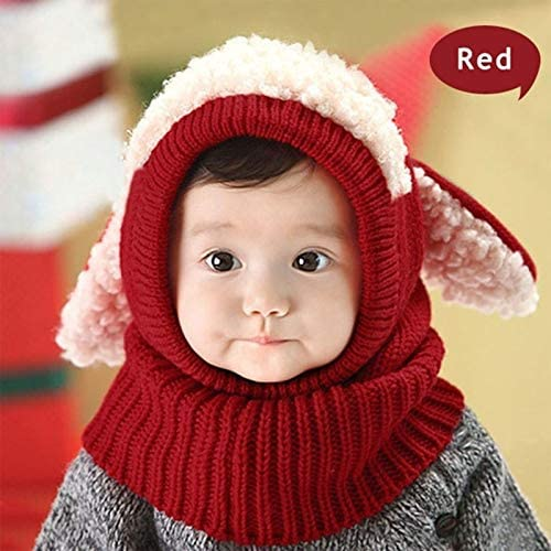 Customn Baby Boys Girls Children Knit Winter Warm Hats Puppy Beanie Caps