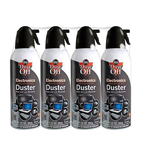 Falcon Compressed Gas (152a) Disposable Cleaning Duster 4 Count, 10 oz. Can (DPSXL4T) (3 Pack(4 Count by Dust-Off (Image #1)