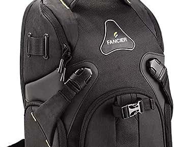 Fancier Camera Backpack Black [WB-9063]