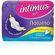 Intimus Absorvente Externo, Noturno Suave com Abas, 8 unidades
