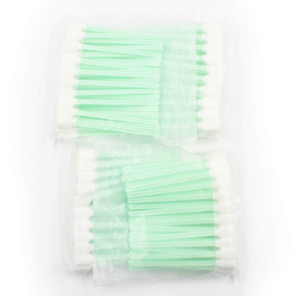 Hotwin 200 pcs Square Rectangle Foam Solvent Cleaning swabs Sticks for Large Format Roland Mimaki Mutoh Printers
