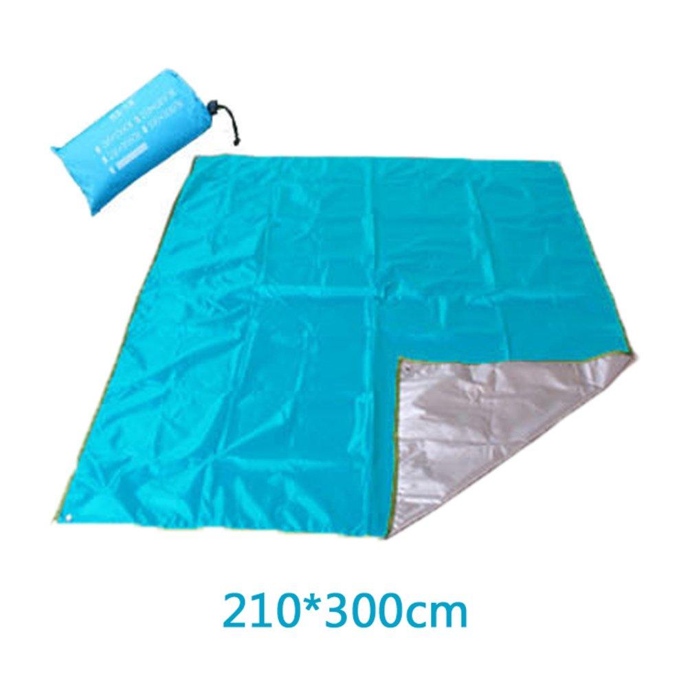 Wasserdichte Portable Beach Blanket Picknickdecke, Pocket-Decke Reise Picknickdecke Kompakt-tarp Camping Decke-A 300x300cm(118x118inch) B07FX7BZC1 | Bunt,