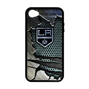 Custom Unique Design NHL Los Angeles Kings Iphone 4 4S Silicone Case by lolosakes