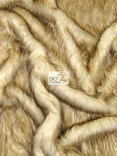 Animal Faux Fur Fabric Sold by The Yard Long/Short Pile Costume Coats Scarfs Assorted (Lynx Cat)