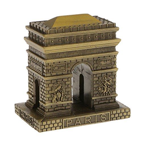 MagiDeal Vintage Bronze Famous Landmark Building Architecture Model Metal Collectable Souvenir Decorative Gift - 8cm Triumphal Arch by MagiDeal
