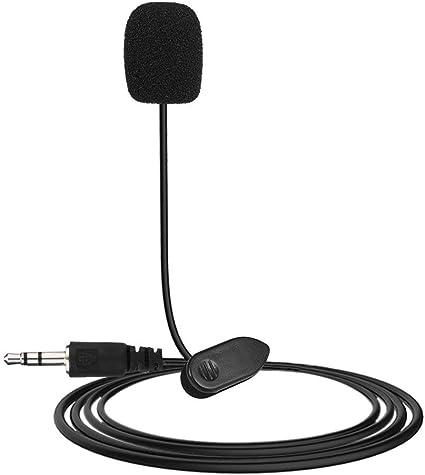 Noir NHUAIYINSHUGUOGUANGGAOJINGY Nouveau Mini Portable 3.5mm Mini Studio Microphone Micro Microphone w//Clip pour PC De Bureau Ordinateur Portable Conf/érences Enseignement Mic Noir