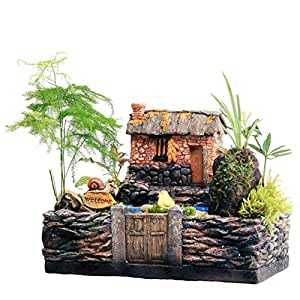 Maceta para plantas suculentas fleshy casyva Cartoon ablashi de flores maceta de cerámica pequeño Mini casa/jardín/oficina decoración 21x 14x 16cm