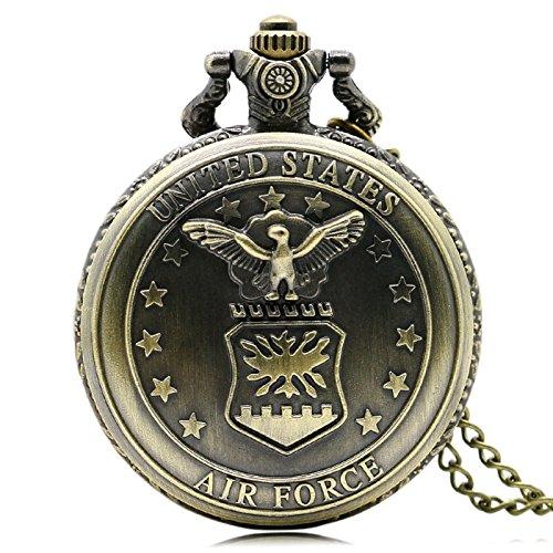 USA Air Force símbolo de Reloj de Bolsillo, de los Fans del Ejército Relojes ,
