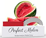 Watermelon Slicer Corer and Server by Perfect Melon, Kid-friendly Watermelon Knife, Easy Clean Dishwasher Safe Stainless Steel Watermelon Cutter Silicone Handle
