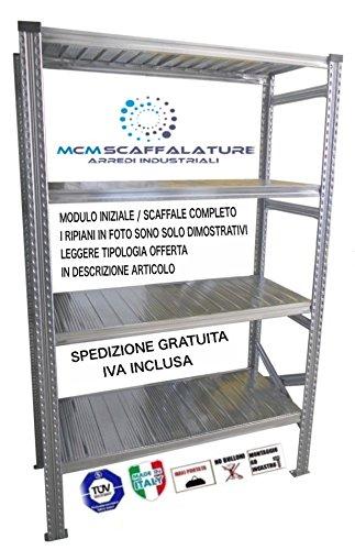 Ripiani Metallici Per Scaffali Misure.Scaffale Misure 200hx90x50prof N 4 Ripiani Scaffali Per Magazzino